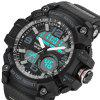 PANARS 8010 Male Digital Watch with Plastic Band - BLACK