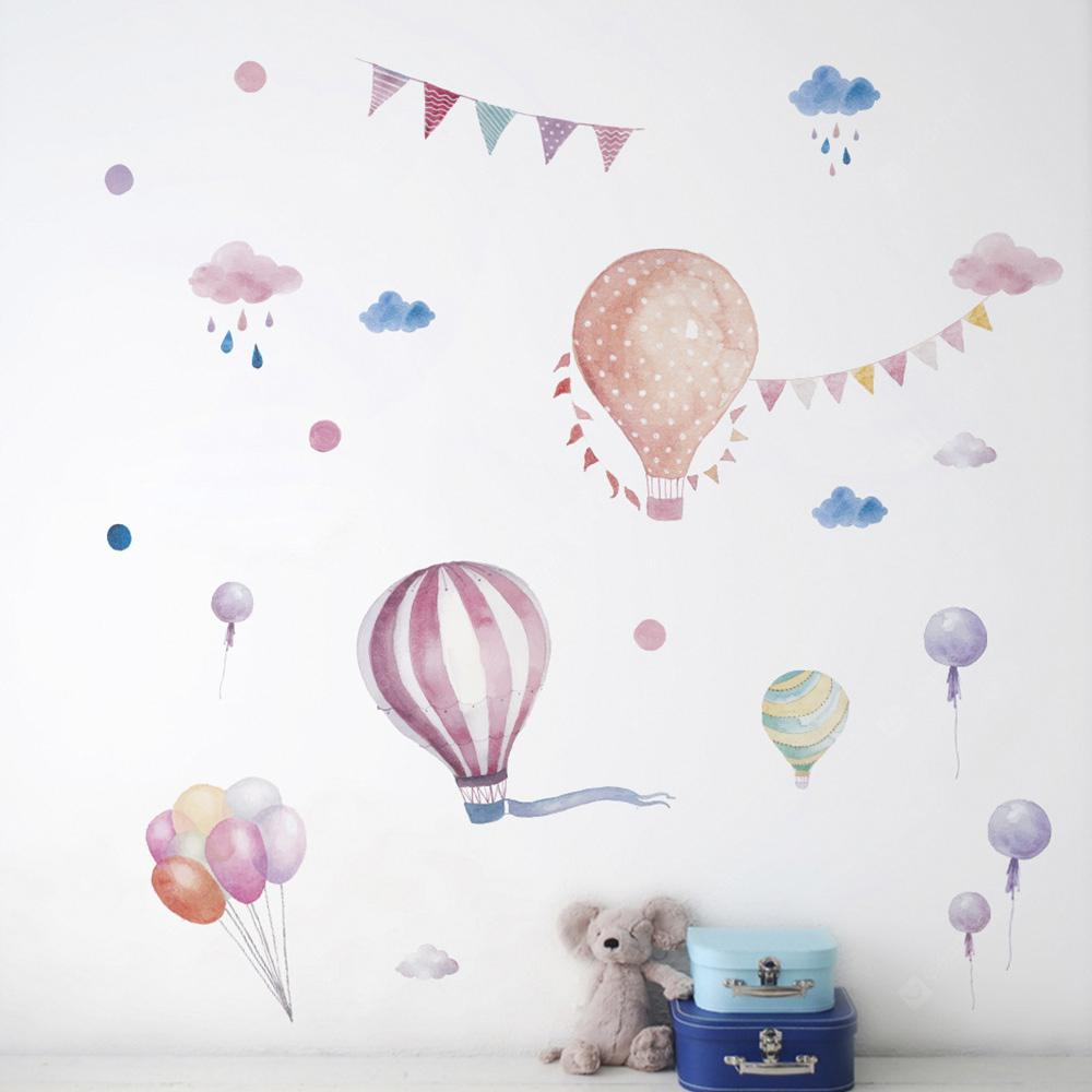 Cartoons Hot Air Balloon Pattern Wall Stickers for Kids Room Decors Wall Sticker
