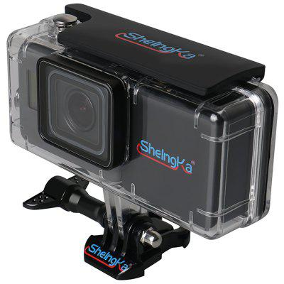 Sheingka FLW114 Waterproof Protective Case Side Battery Touched Cover for GoPro HERO5 / 6 Sport Cameras
