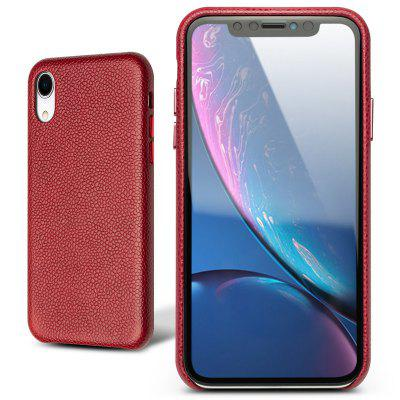QIALINO Etui de Protection en Cuir Véritable Mode pour iPhone XR