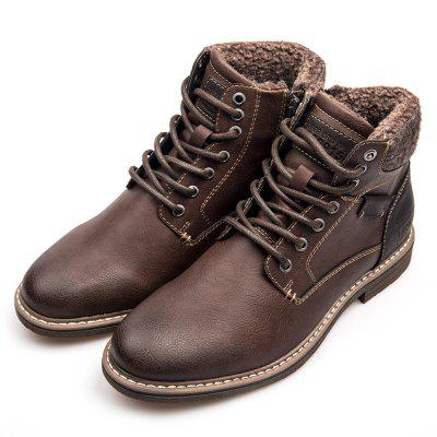XPER Male Vintage Fashionable High Top Leisure Boots