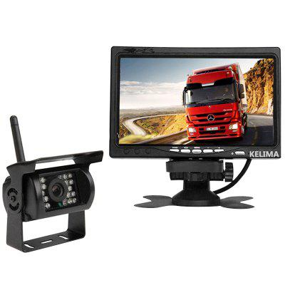 KELIMA 0688 Wireless Rear View Infrared Camera and 7 inch Monitor Display