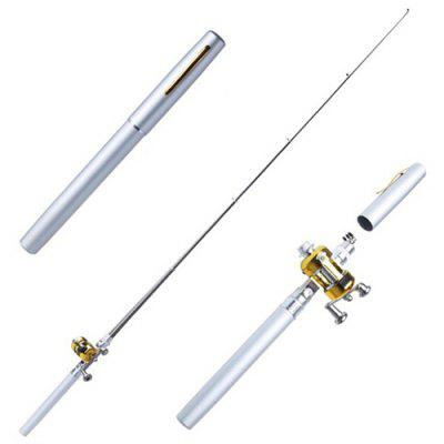 Portable Pen Type Pocket Flexible Fishing Rod with Drum Reel
