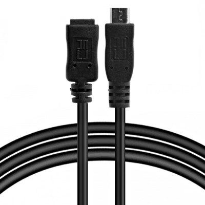 CY 50cm Full Pin Connected Micro USB 2.0 Type 5 Pin Male to Female Cable