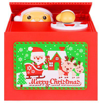 Electric Stealing Coin Musical Santa Claus Piggy Bank for Christmas Gift