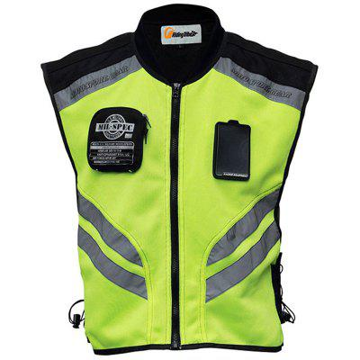 Riding Tribe JK - 22 Motorcycle Riding Vest Mobility Fluorescent Safety Clothing