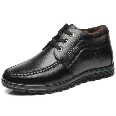 Trendy Warm Soft Leather Casual Shoes for Men