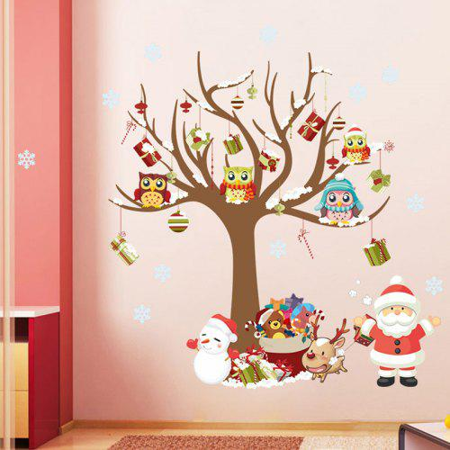 Christmas Tree Santa Claus Pattern Wall Sticker for Children\'s Room ...