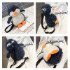 2018 New Style Fashion Collision Colour Shoulder Crossbody Penguin Shaped Bag voor Dames - WARM WIT