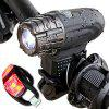 USB Rechargeable Bike Light Bicycle Headlight Taillight - BLACK