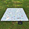 Aotu AT6236 Outdoor Lightweight Picnic Mat Moisture Proof Pad - CRYSTAL CREAM