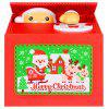 Electric Stealing Coin Musical Santa Claus Piggy Bank for Christmas Gift - LAVA RED