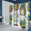 Colorful Pineapple Pattern Shower Curtain - MULTI