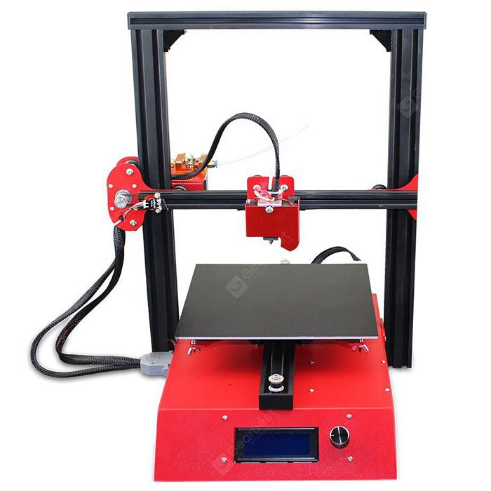 Jazla J1 3D Printer - RØD US PLUG (3-PIN)
