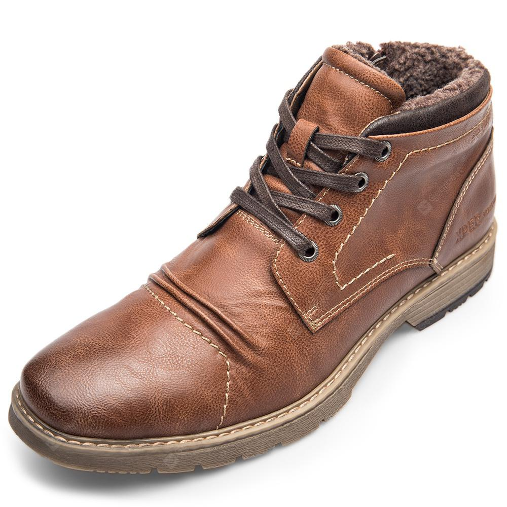 XPER Warm Comfortable Leisure High-top Lace-up Boots