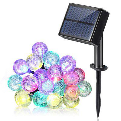 20-LED waterdichte balvorm Solar Power String Light
