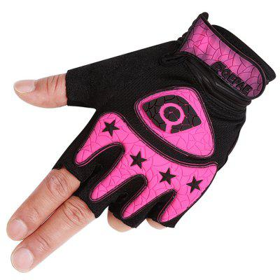 Pair of Half Finger Bicycle Cycling Gloves