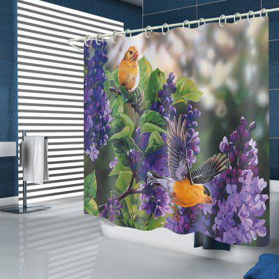 BK126 Flower Bird Shower Curtain