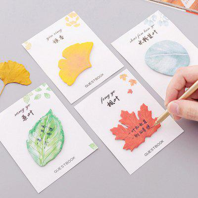 Leaf Shape Creative Sticky for Taking Notes