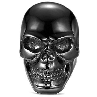 Zinc Alloy Black Big Skull Ring