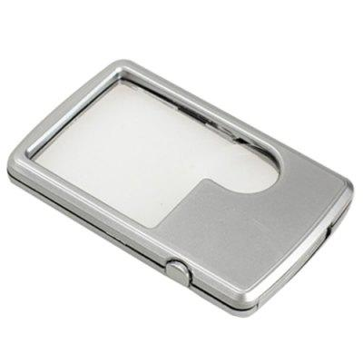 Card Type Magnifier with Square LED Light