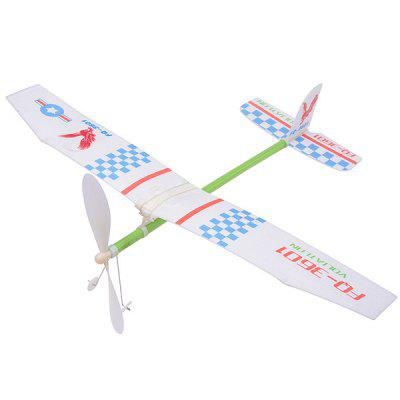 Rubber Band Power Foam Aircraft Model Toy