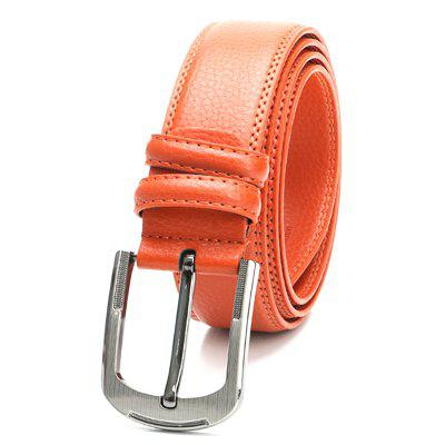 Men's Solid Color Simple Style Leather Belt