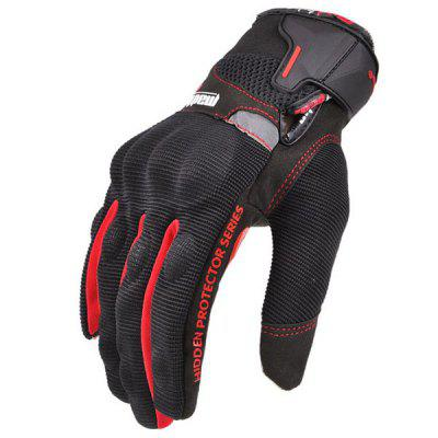 Pair of Full Finger Touch Screen Warm-keeping Cycling Gloves