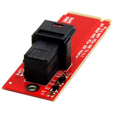 M.2 NGFF PCI-E NVME to U.2 SFF-8639 Mini SAS Adapter with Cable for Intel 750
