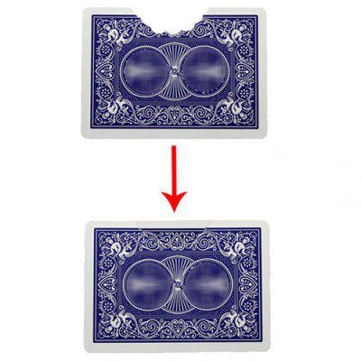 Bite out Card Magic Tricks Illusions Stage Props Toy
