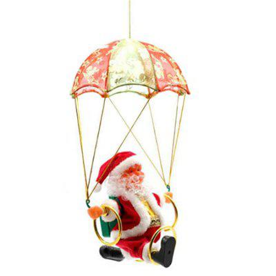 Creative Electric Santa Claus Parachute Circle Acrobatic Doll Toy