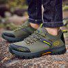 Men Outdoor Lace Up Casual Hiking Shoes - ARMY GREEN