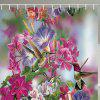 BK127 Pink Flower Bird Shower Curtain - PINK CUPCAKE