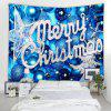 Merry Christmas Printed Wall Hanging Tapestry - BLUE