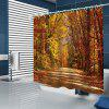 BK164 Autumn Wood Shower Curtain - GOLDENROD