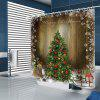 BK165 Christmas Tree Shower Curtain - COOKIE BROWN