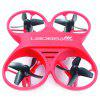 L6065 Mini RC Drone Infrared Controlled Drone Aircraft with LED Light Birthday Gift for Children Toys - RED