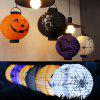 Creative Decoration Folding LED Paper Lantern for Halloween Party - PURPLE