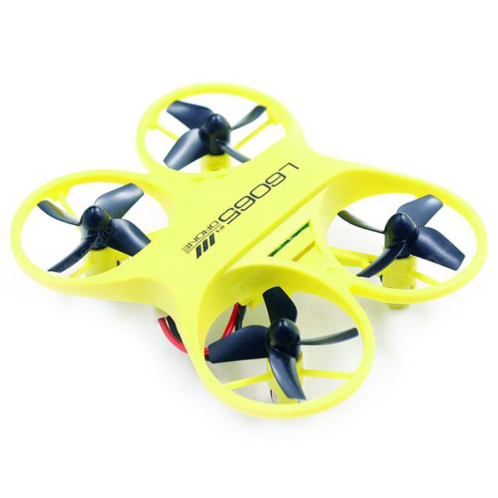 L6065 Mini RC Drone Infrared Controlled Drone Aircraft with LED Light Birthday Gift for Children Toys - YELLOW