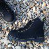 Homens Moda Pure Color High-top Quente Martin Botas De Neve - PRETO
