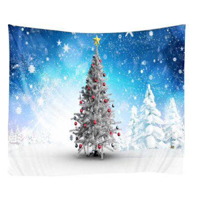 Snowy Christmas Tree Printed Wall Hanging Tapestry