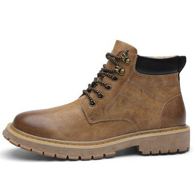 Microfiber Leather Casual Boots for Men