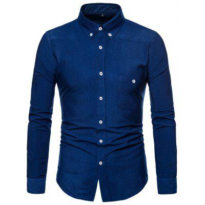 Fashion Solid Color Comfortable High-quality Long Sleeve Shirt