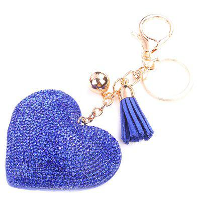 Quality Leather Diamond Spring Lobster Clasp Key Ring for Decoration