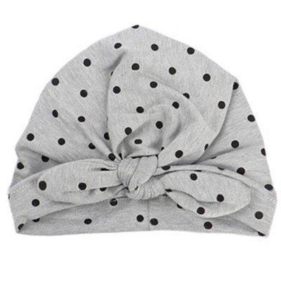 New Rabbit Ears Knot Dots India Baotou Hat