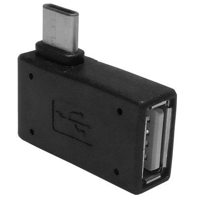 CY Right Angled Type-C Male to USB2.0 Female Adapter