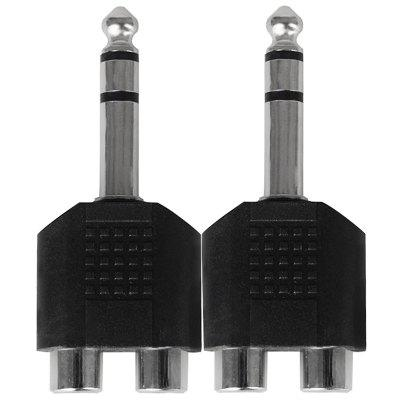 F - 43 6.5 to 3.5 One to Two Socket Splitter Audio Converter Plug 2pcs