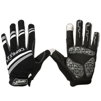Copozz Mountain Bike Thickening Full Finger Breathable Gloves for Bicycling