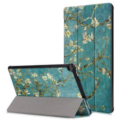 Flower Design Leather Tablet Cover for Huawei Mediapad M5