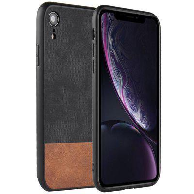 PU Leather Cloth Pattern Protective Phone Case Full Cover for iPhone XR